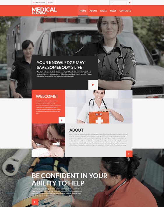 medical training education joomla templates