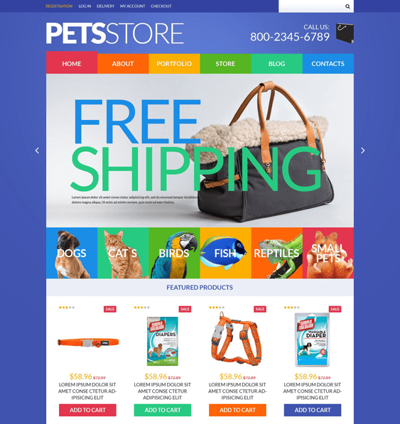 pet woocommerce themes store