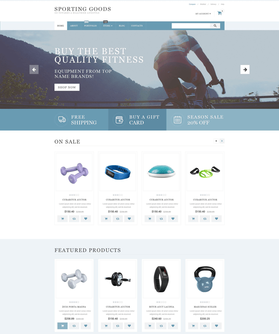 sporting sports woocommerce themes