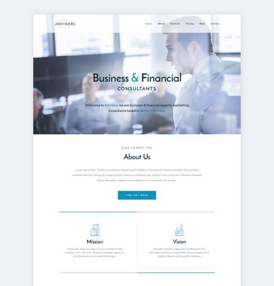 the advisors finance wordpress themes