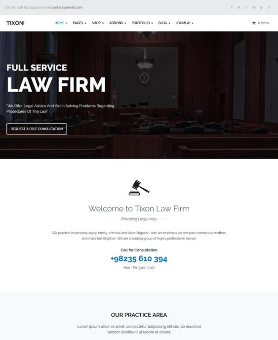tixon lawyers law firms joomla templates
