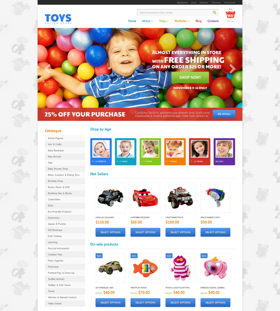 toy kids babies children woocommerce themes