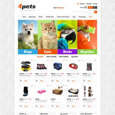 4Pets PrestaShop Theme (PrestaShop theme for pet stores) Item Picture