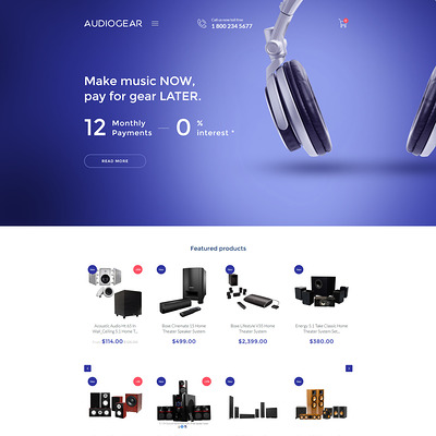 Audio Gear Shopify Theme (clean Shopify theme) Item Picture