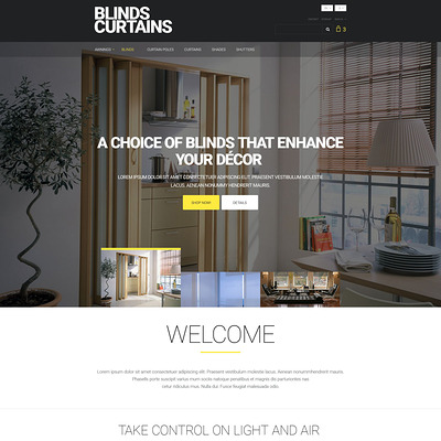 Blinds And Curtains PrestaShop Theme (PrestaShop Theme For Interior Design  And Home Decor) Item