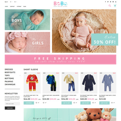 BoBo (PrestaShop theme for selling clothing for kids, children, and babies) Item Picture