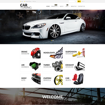 Car Tuning Shopify Theme (clean Shopify theme) Item Picture