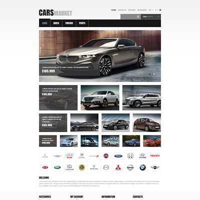 Cars and Parts PrestaShop Theme (PrestaShop theme for car, vehicle, and automotive stores) Item Picture