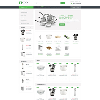 Cook Shopify Theme (clean Shopify theme) Item Picture