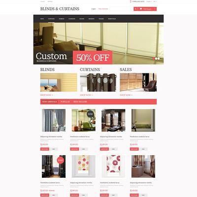 Curtains Store PrestaShop Theme (PrestaShop theme for interior design and home decor) Item Picture
