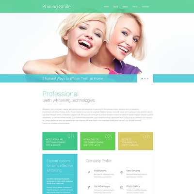Dentistry Responsive Website Template (Bootstrap website template for dentists and dental clinics) Item Picture