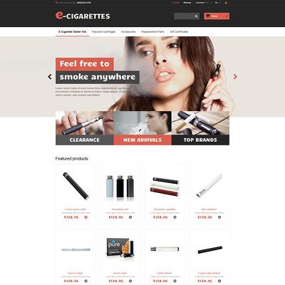 E-Cigarettes PrestaShop Theme (PrestaShop theme for tobacco, cigar, and e-cigarette stores) Item Picture