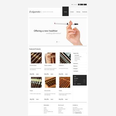 Electronic Cigarettes Store PrestaShop Theme (PrestaShop theme for tobacco, cigar, and e-cigarette stores) Item Picture