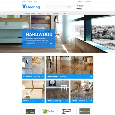 Flooring PrestaShop Theme (PrestaShop theme for flooring stores) Item Picture