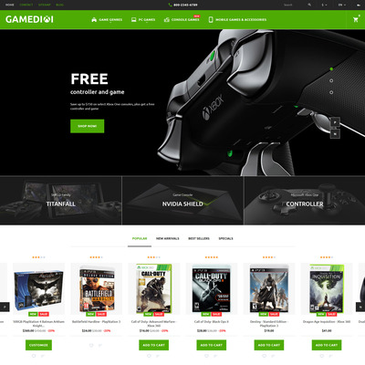 Gamedixi (PrestaShop theme for video game stores) Item Picture