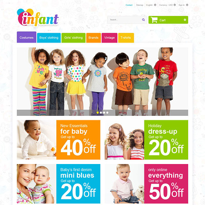 Infant PrestaShop Theme (PrestaShop theme for selling clothing for kids, children, and babies) Item Picture