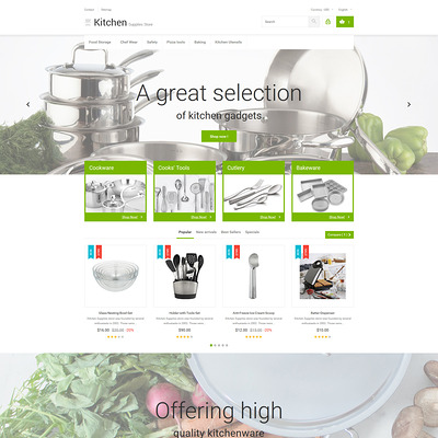 Kitchen Supplies Store PrestaShop Theme (PrestaShop theme for kitchen supplies) Item Picture