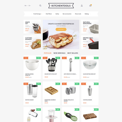 Kitchen Tools PrestaShop Theme (PrestaShop theme for kitchen supplies) Item Picture