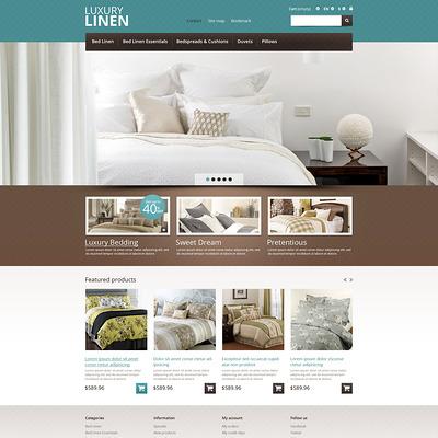 Linen Store PrestaShop Theme (PrestaShop theme for interior design and home decor) Item Picture