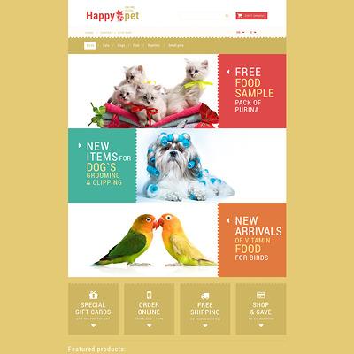 Pets Shopping PrestaShop Theme (PrestaShop theme for pet stores) Item Picture