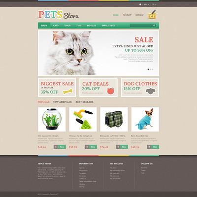 Pets Store PrestaShop Theme (PrestaShop theme for pet stores) Item Picture