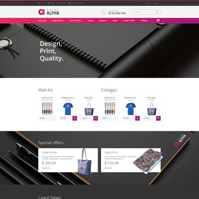 PrintAlpha (PrestaShop theme for print stores) Item Picture