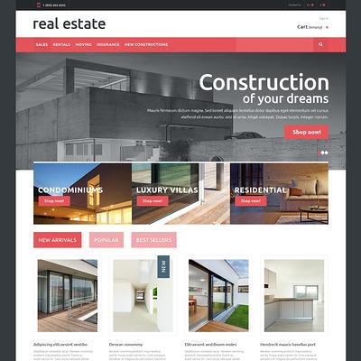 Real Estate PrestaShop Theme (real estate PrestaShop theme) Item Picture
