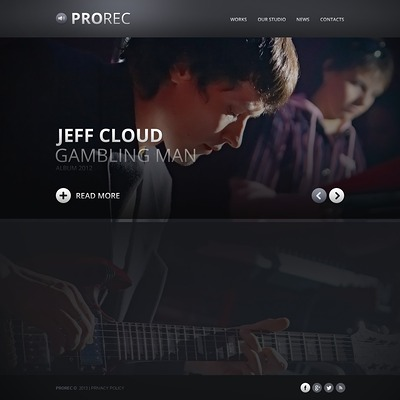 Recording Studio Website Template (Bootstrap template for music websites) Item Picture
