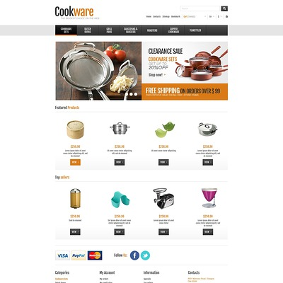 Responsive Cookware Shop PrestaShop Theme (PrestaShop theme for kitchen supplies) Item Picture