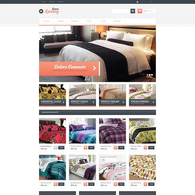 Responsive Linen Store PrestaShop Theme (PrestaShop theme for interior design and home decor) Item Picture