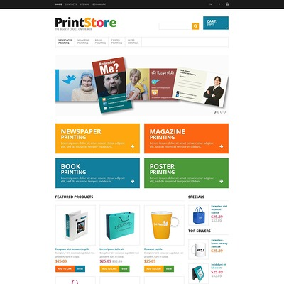 Responsive Print Store PrestaShop Theme (PrestaShop theme for print stores) Item Picture