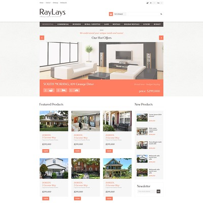 Responsive Real Estate Store PrestaShop Theme (real estate PrestaShop theme) Item Picture