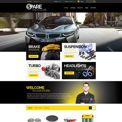 Spare Parts Store PrestaShop Theme (PrestaShop theme for car, vehicle, and automotive stores) Item Picture