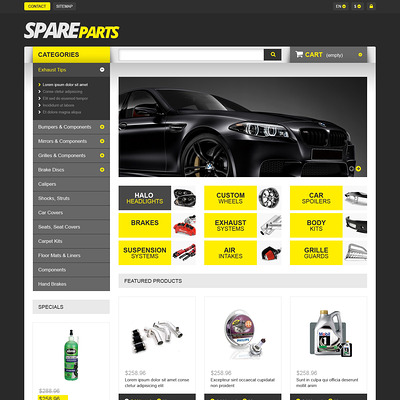 Spares for Speed PrestaShop Theme (PrestaShop theme for car, vehicle, and automotive stores) Item Picture