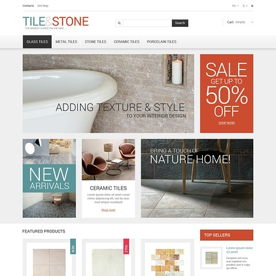 Tile Stone PrestaShop Theme (PrestaShop theme for flooring stores) Item Picture