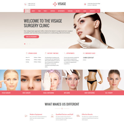 Visage (Bootstrap website template for plastic surgeons) Item Picture