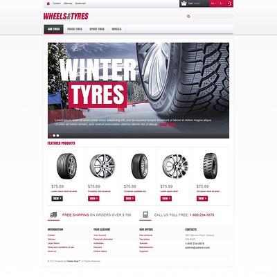 Wheels & Tyres Store PrestaShop Theme (PrestaShop theme for car, vehicle, and automotive stores) Item Picture