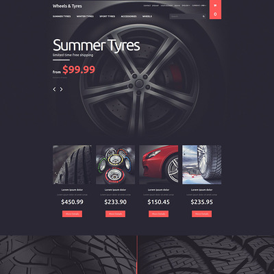 Wheels and Tyres PrestaShop Theme (PrestaShop theme for car, vehicle, and automotive stores) Item Picture