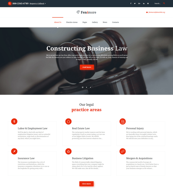 fenimore lawyers law firms joomla templates