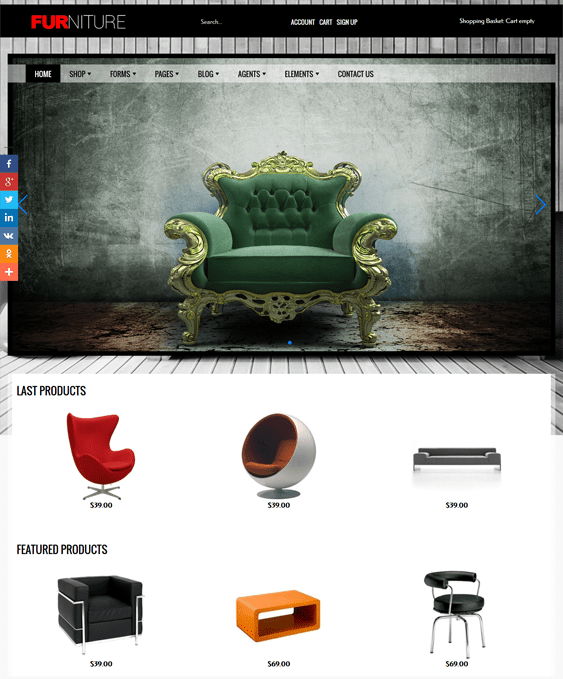 furniture joomla templates