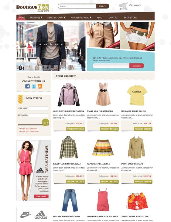 ot boutique virtuemart joomla templates