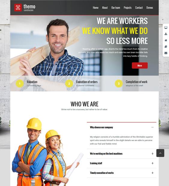 themo construction wordpress themes