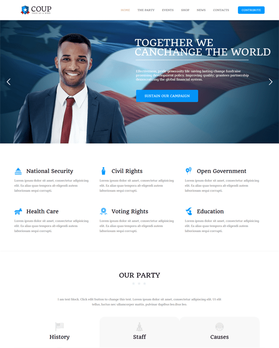 coup politics political candidates wordpress themes