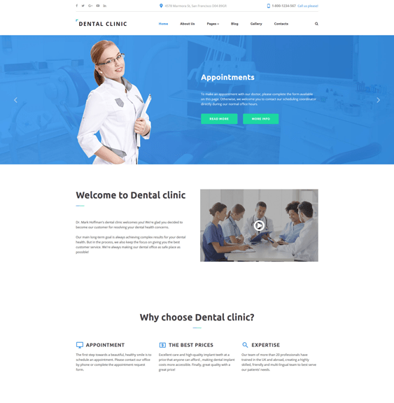 dental clinic medical joomla templates