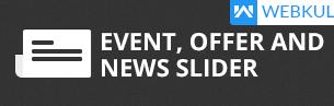 event offer news slider shopify apps plugins