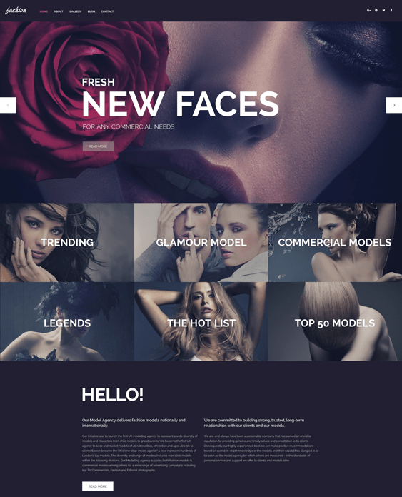 fashion spot wordpress themes models modelling agencies