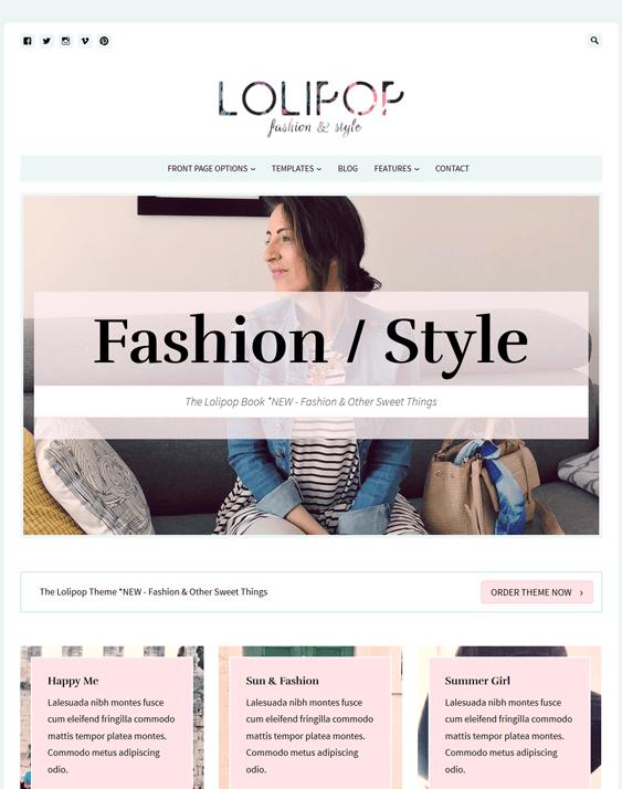 lolipop fashion blog wordpress themes