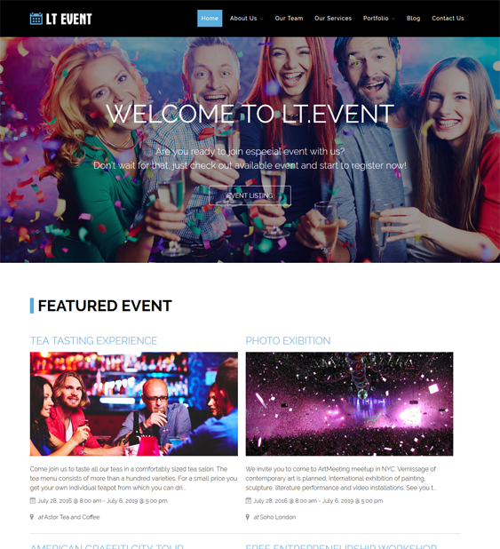 lt event wordpress themes events