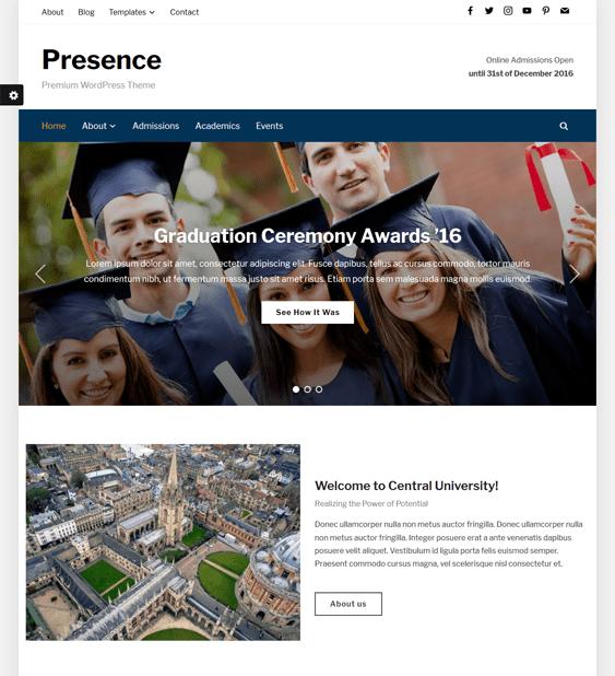 presence education wordpress themes