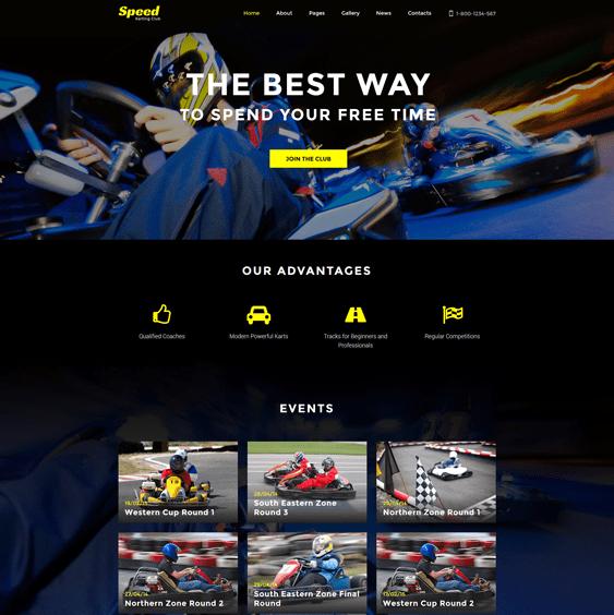 speed sports joomla templates